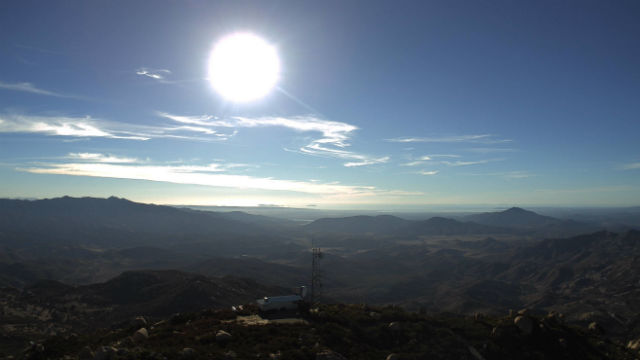Afternoon sun from Lyons Peak