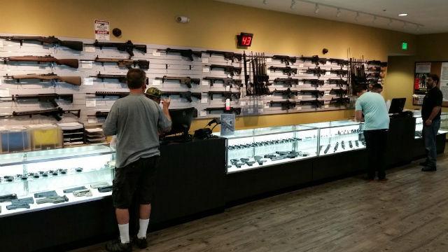Gun store in Orange County
