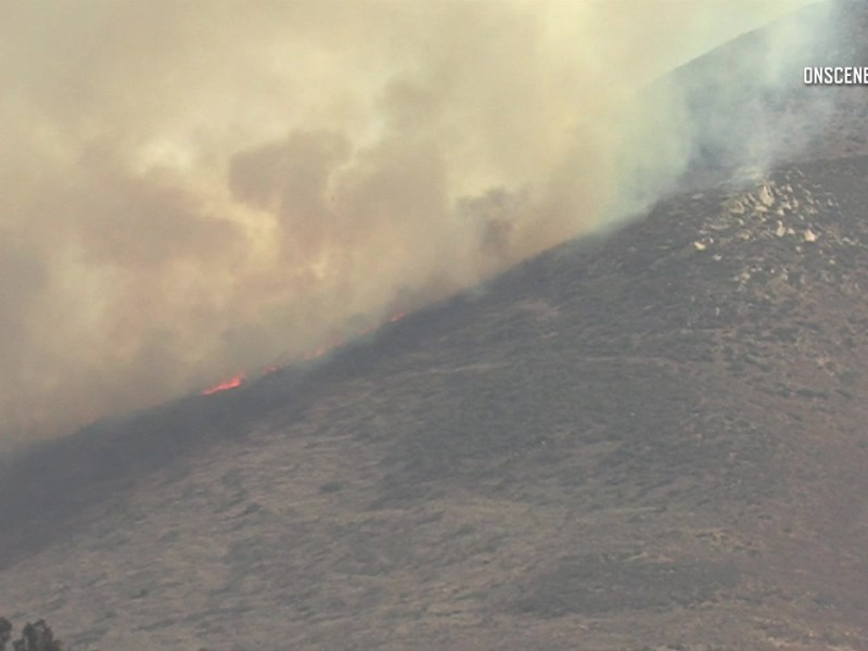 Smoke from Mexican fire