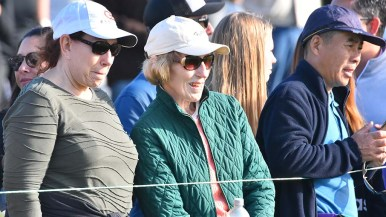 Sunny but cool skies greeted fans at Torrey Pines Golf Course.