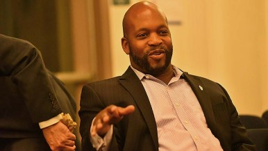San Diego County Supervisor candidate Omar Passons took part in the discussion from the audience