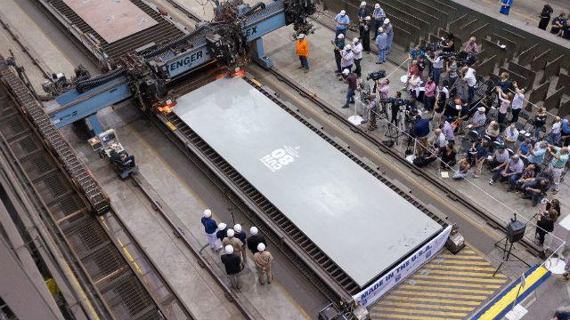 Steel for new USS Enterprise