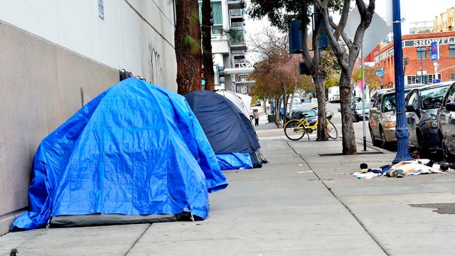 Homeless tents in downtown San Diego