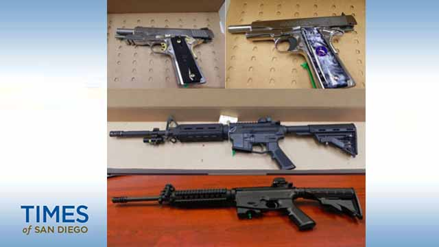 These firearms were among the items seized in case.