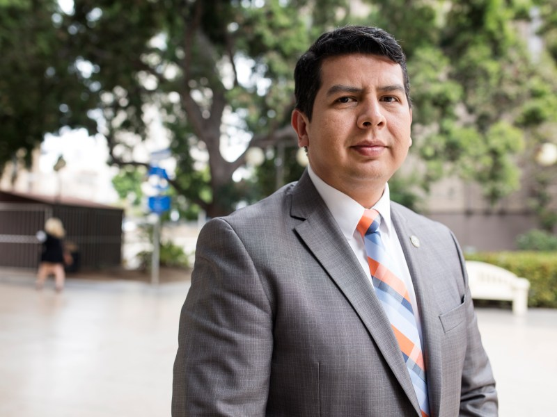 San Diego Councilman David Alvarez, shown on May 23, 2018, announced last year that he would run in 2020 for the county Board of Supervisors. (Megan Wood/inewsource)