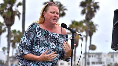 """Dawn Reilly of Beautiful Mission Beach thanked beach games staff for helping at beach cleanups: """"You guys have been really good citizens."""""""