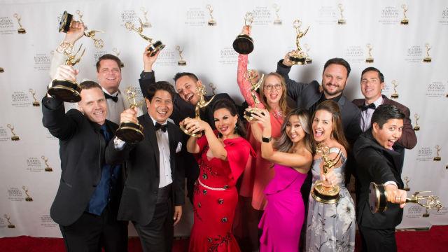 KFMB team celebrates Emmys
