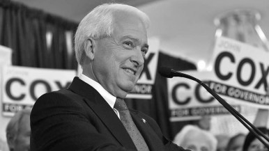 Republican governor candidate John Cox in downtown San Diego.