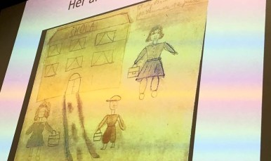 A drawing by a panelist's cousin showing a school was found under her pillow.
