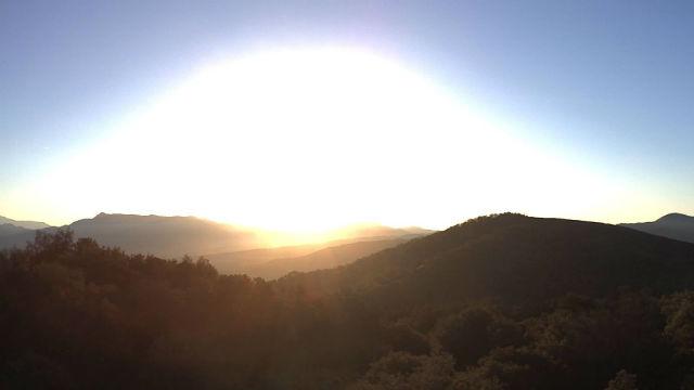 Sunrise Monday from Mesa Grande