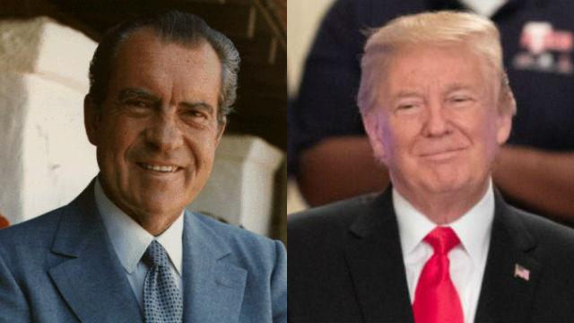 Presidents Nixon and Trump