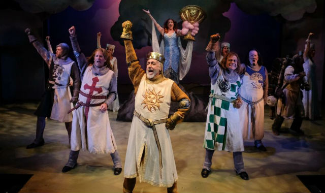 """King Arthur and his knights in """"Spamalot:"""