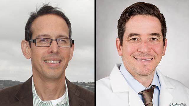 UC San Diego's James Hagood (left) and Eric Adler.