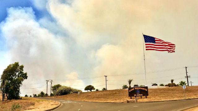 Smoke from brushfire