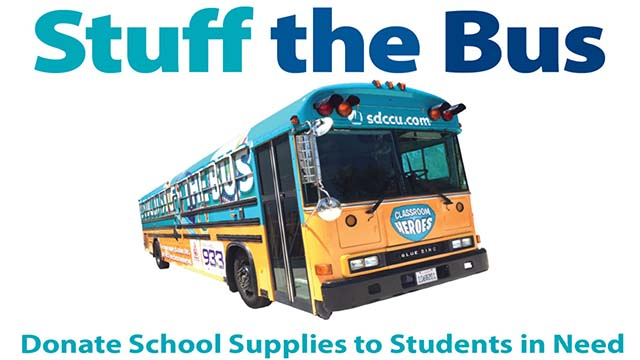The San Diego County Office of Education teamed with San Diego County Credit Union to collect new, unused school supplies for local students experiencing homelessness