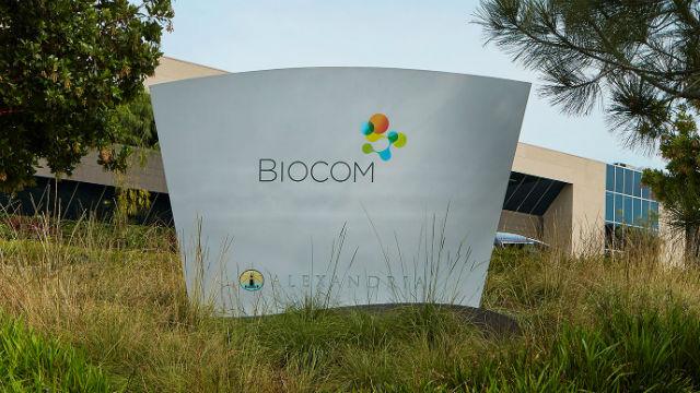 Biocom office sign