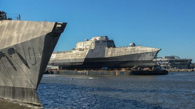 Littoral combat ships under construction