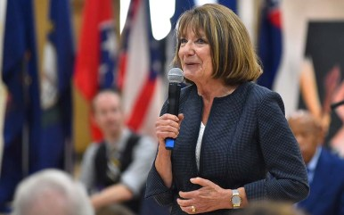 """Rep. Susan Davis of San Diego recalled having to encourage a student to vote despite fear of """"making a mistake."""""""