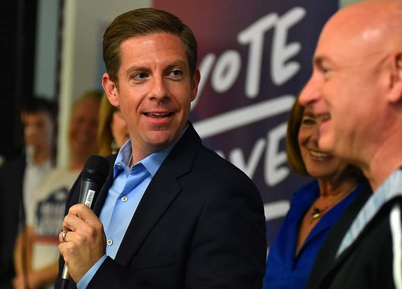 49th Congressional district candidate Mike Levin react to former astronaut Mark Kelly.
