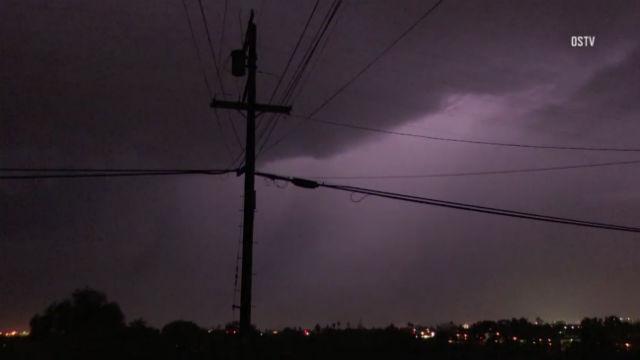 Lightning over National City