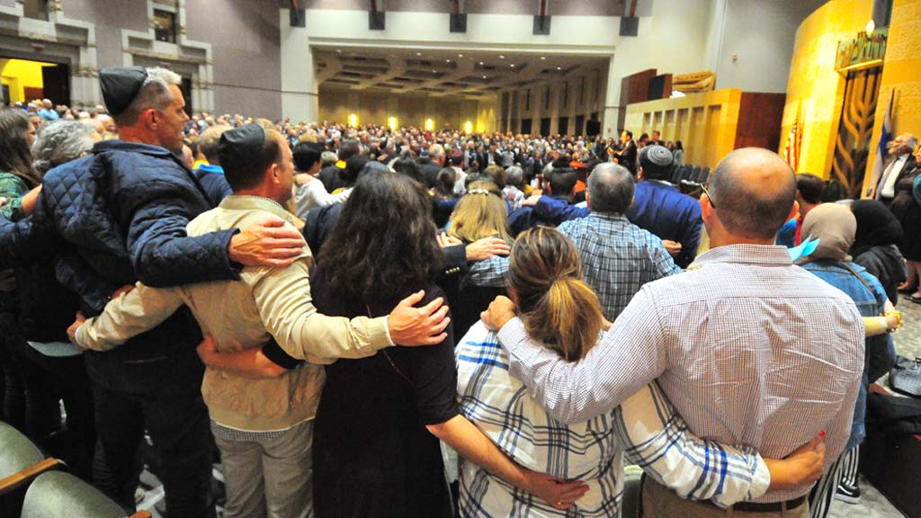 Members of different faiths and communities united in solidarity against hate.