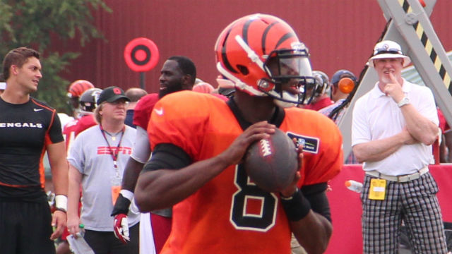 Josh Johnson playing for the Bengals