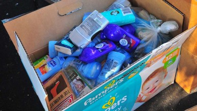Individual toiletry items are needed rather than large containers that are hard to distribute to the migrants.