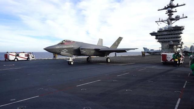 F-35C aboard USS Carl Vinson