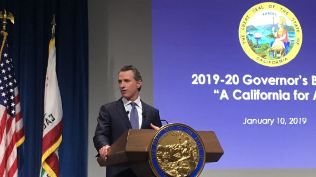 Gov. Gavin Newsom presents state budget
