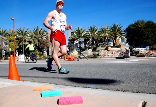 """Michael """"Giuseppe"""" Mannozzi would go onto finish third in the U.S. championship 50K race."""