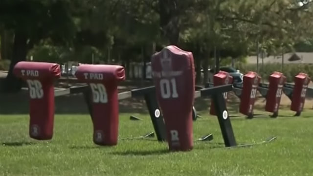 """""""T-Pads"""" for tackle training at a Califonria high school"""