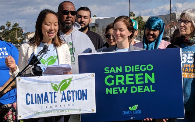"Environmental activists announce ""Green New Deal"" for San Diego"