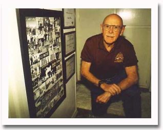 David Pain, at home south of San Diego State University, posed with memorabilia around 2003.