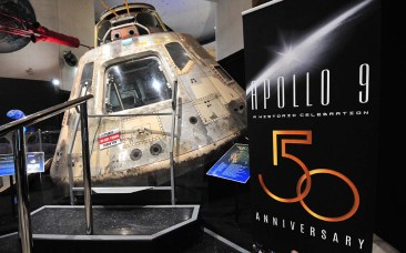 The Apollo 9 crew named the command module Gumdrop during a visit to a bar, the astronauts said.