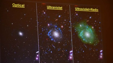 Dr. Burçin Mutlu-Pakdil illustrated how utilizing various wavelengths helps astronomers see the elements of space objects.
