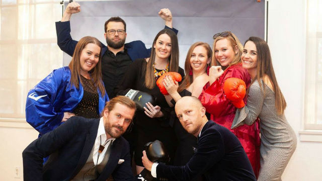 Staff of The i.d.e.a Brand atthe Addy Awards