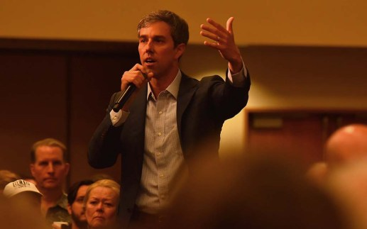 Presidential candidate Beto O'Rourke spoke to about 250 people in Chollas View.
