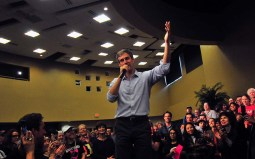 Presidential candidate Beto O'Rourke gave a speech and then took questions from the audience as he visits the San Diego area