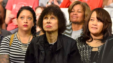 Audience members listen intently to presidential candidate Beto O'Rourke as he speaks in Chollas View.
