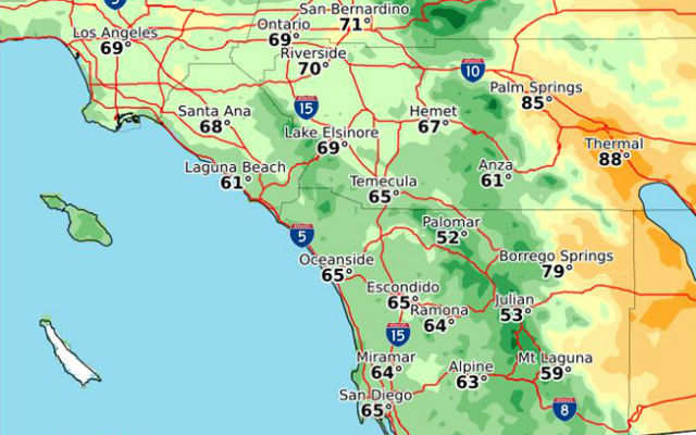 High temperatures on Easter Sunday