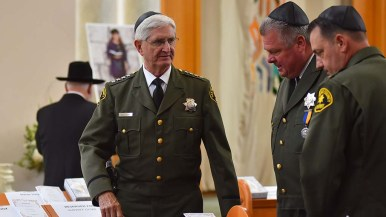 San Diego Sheriff Bill Gore was among the civic leaders who attended Lori Kaye's funeral service.
