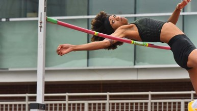 World indoor champion Vashti Cunningham had the highest jump in the world this year — 6 feet 5 1/2 inches — at the Mt. SAC Relays in Torrance.