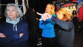 Colleen Barney got advice and encouragement from ANW superstar Jessie Graff (in light blue) and Graff's mother, Ginny MacColl.