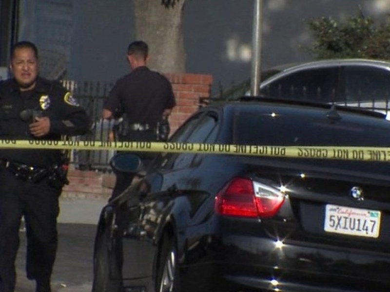 Crime scene in San Diego County