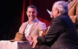 "Rep. Duncan L. Hunter, smiling at his father, would bid farewell to him with: ""Hey, you're a great American."""