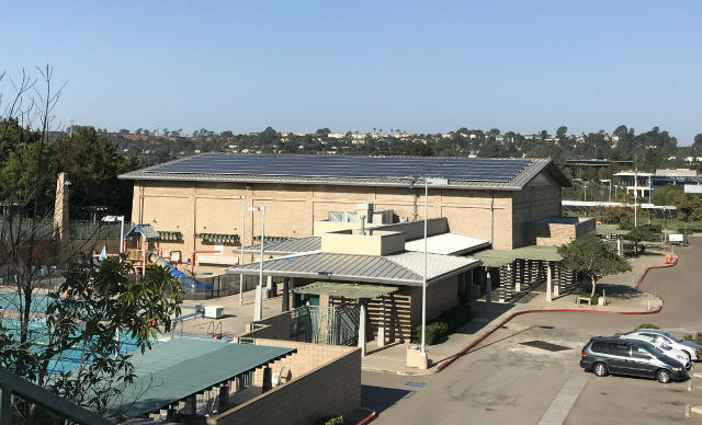 Solar panels on Carmel Valley Recreation Center