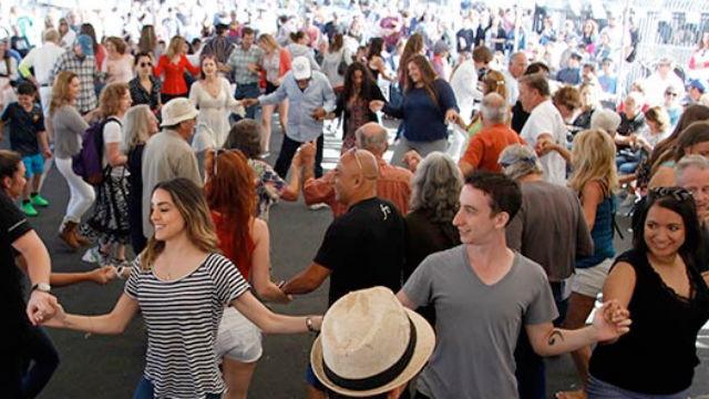 Greek dance at a festival in San Diego