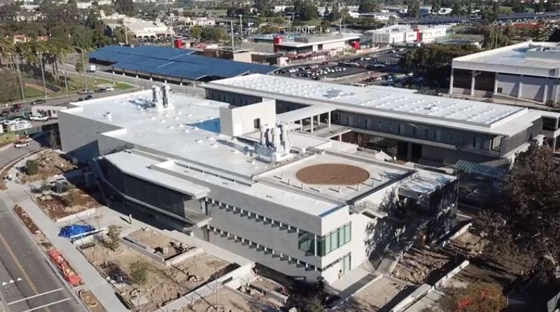 Aerial view of the Southwestern College Math and Science Building