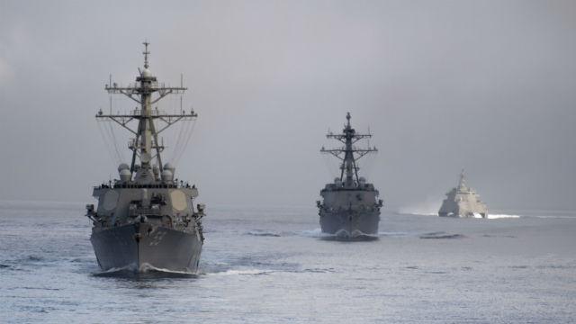 USS Russell, USS USS Pinckney and USS Omaha