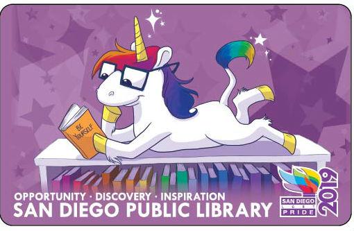 San Diego Public Library 2019 Pride card